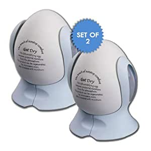DEHUMIDIFYING EGG (SET OF 2) - REMOVE EXCESS MOISTURE FROM THE AIR!