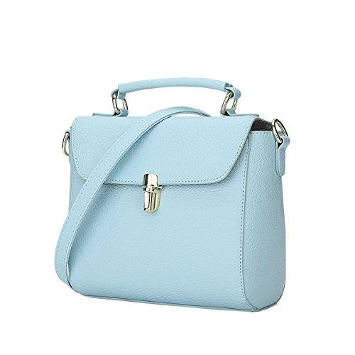 DISSA S816 Nouveau style PU Cuir Sacs portés épaule Sacs portés main,210×105×170(mm) Bleu