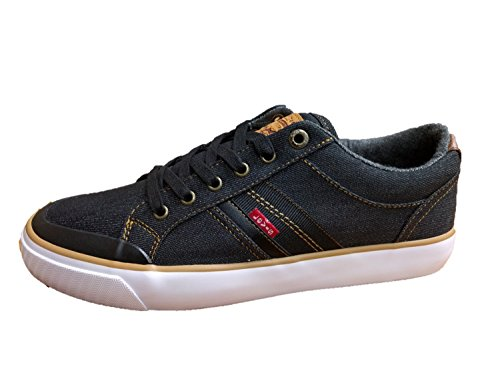 Sneakers In Denim Uomo Hoffman Nero