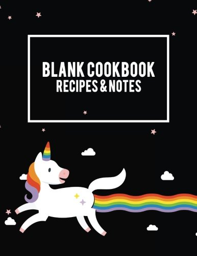 "Blank Cookbook Recipes & Notes: Unicorn LGBT Flag, Recipe Journal, Blank Cookbooks To Write In Large Print 8.5"" x 11"" Recipe Keeper, Family Recipe, ... Cookbook, Gifts for Chefs, Foodies, Cooking by Bluesky Planners"