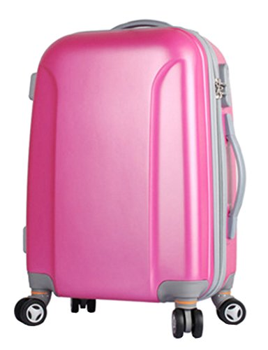 Amlenker Womens ABS Spinner Trolley Luggage Coded Suitcase - 22''Roseo