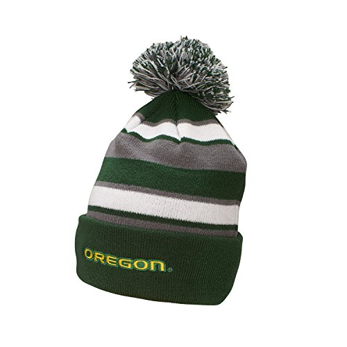 NCAA Oregon Ducks Comeback Beanie, One Size, Forest/White/Graphite