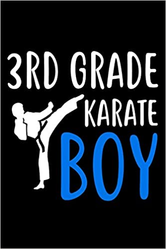 3rd Grade Karate Boy Martial Arts Third Grader Gift Sketch Pad For