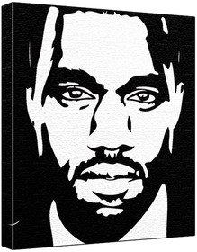kanye west pop art print black background 60 x 50 x 1 8 cm deep Kanye West Yeezy kanye west pop art print black background 60 x 50 x 1 8 cm