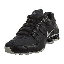 Nike Mens Shox NZ PA, Black Metallic Silver