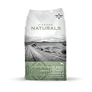 Diamond Naturals Adult Large Breed Real Meat Recipe Premium Dry Dog Food With Real Pasture Raised Lamb Protein 40Lb 22