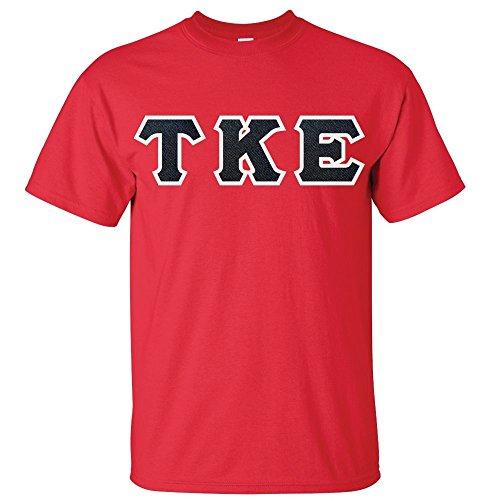 Custom Greek Letters - Custom Greek Letter Shirt - G500 (Medium, Red)