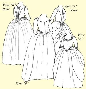 Robe à L'Anglaise en Faurreau or English Nightgown Pattern (Size (Colonial Tailor Costumes)