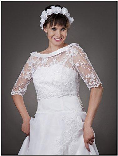 MGT-Shop - Torera - bolero - para mujer weiß