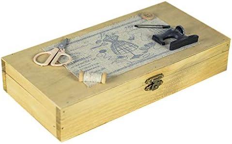 tapidecor Caja COSTURERO Madera RECTANGULA con Tapa 24X12X4: Amazon.es: Hogar