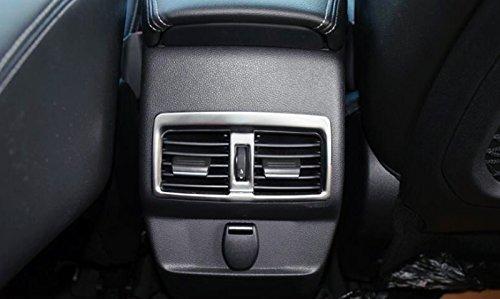 Interior de acero inoxidable trasero reposabrazos marco de rejilla de aire acondicionado de coche 1pcs para Koleos 2018 2019