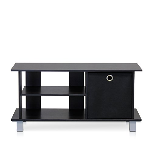 Furinno 13239EX/BK Simplistic TV Entertainment Center with Bin Drawers, Espresso/Black