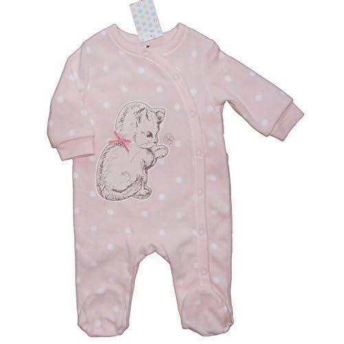 bébé filles laineux Grenouillère dors-bien ROSE CHATON DESIGN jusqu'à 1 mois 3M 6-9m 9-12m