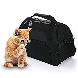 MuchL Cat Carrier Soft-Sided Pet Travel Carrier for Cats, Dogs, Small Animals Pet Travel Bag Airline Approved