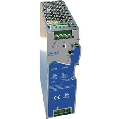 Altech Corp. PSW-12024 Power Supply; AC-DC; 24VDC@5A; 200-550V In; Enclosed; DIN Rail Mount; PSW Series