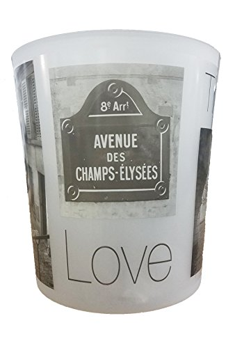 Evideco Printed Bath Trash Can Paris City Waste Bin ()