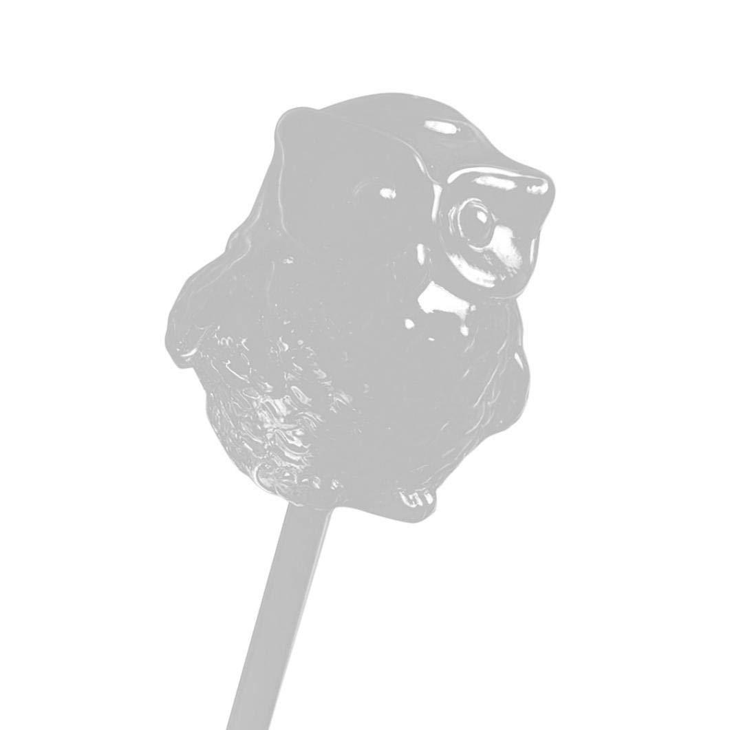 certainPL Self Watering Aqua Bulbs Hand-blown Mini Glass Automatic Plant Waterer Device Owl Decorative Design (Clear)