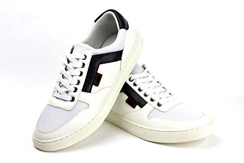 Hombres Con Cordones Cómodo Zapatillas Deporte Moda Informal Gimnasio Zapato plano Blanco/Gris