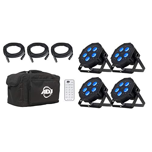 ADJ Products LED Lighting, Black (Mega Flat Hex pak) (Par Pack)