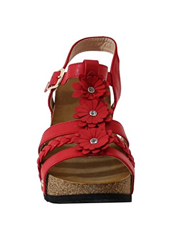By Shoes - Zuecos para Mujer Rojo