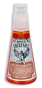 Doc Johnson Doc's Cocktails Oral Play Lubricant, Fuzzy Navel , 2-Ounce Bottle (Pack of 4)