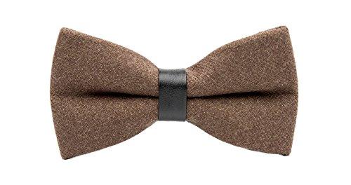 - Men's Brown Bow Tie Pre-tie Double Layers Bowties Male Fashion Boys Girls Kids