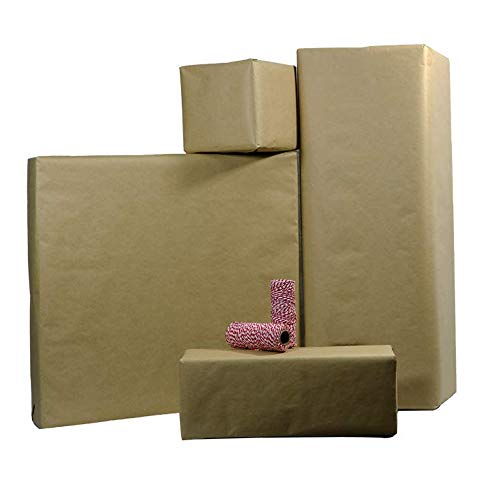 Postal Wrap Brown Kraft Paper 3 Rolls with Bakers Twine