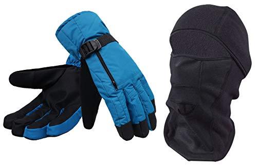 Simplicity Mens Winter Windproof Snowboard/Ski Mask&Touchscreen Gloves