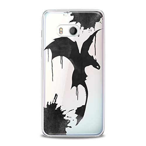 - Lex Altern TPU Case for HTC Desire 12 Plus U12 Plus U11 Life Dual Sim Toothless Dragon Gift Cute Black Wings Flexible Design Cartoon Print Soft Cover Animation Smooth Kids Slim fit Clear Lightweight