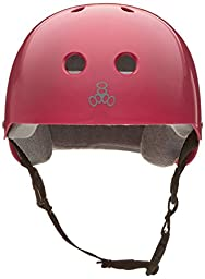 Triple Eight Helmet with Sweatsaver Liner, Pink Glossy, Small