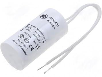 2µF 450V Motor-Betriebs-Kondensator mit Kabel Anlaufkondensator  2uF 450V