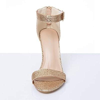 JSUN7 Women's Fashion Chunky High Heel Sandal Pump Shoe | Shoes