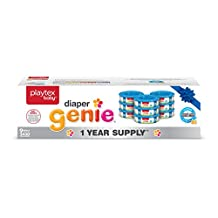Playtex Baby Diaper Genie Diaper Pail System Refill Liners, 1 Year Supply (9-Pack) of Liners