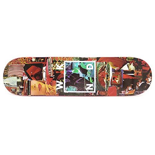 狂人メイエラ柔らかいWKND DECK ウィークエンド デッキ TEAM COLLAGE LOGO RED 8.0 スケートボード スケボー SKATEBOARD