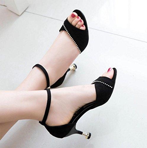 Zapatos Salvaje Alto Poco Puntiagudos Tacón Gato Metal Palabra Con Meili Profundos De dSxw8dY