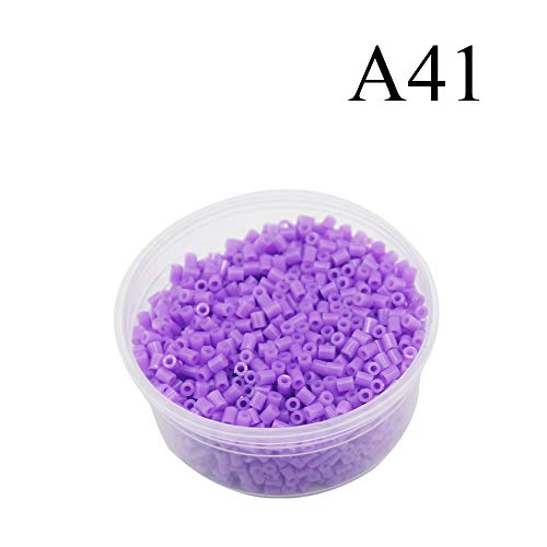 Canutillos mini beads 2.6mm (2000 unidades) violeta fuerte