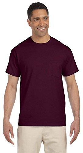 6.1 Ounce Pocket T-shirt - Gildan Mens 6.1 Oz. Ultra Cotton Pocket T-Shirt (G230) -Maroon -XL
