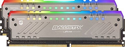 Ballistix Tactical Tracer 32GB Kit (16GBx2) RGB DDR4 2666 MT/s (PC4-21300) DR x8 DIMM 288-Pin Memory - BLT2K16G4D26BFT4