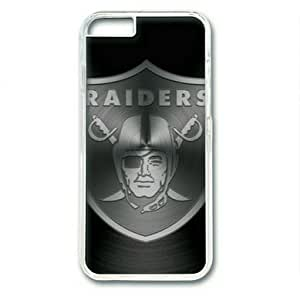 """iphone 6 4.7 Case,Metallic Oakland Raiders Hard Shell Transparent Edges Case for iphone 6 4.7("""")"""