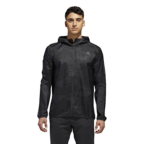 - adidas Running Response Graphic Hooded Wind Jacket, Carbon, X-Large