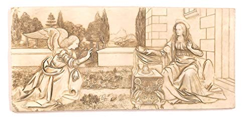 (Archangel Gabriel and the Annunciation Relief by Da Vinci)
