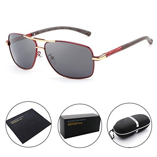 HDCRAFTER Polarized Sunglasses for Men UV400 Protection Lenses Metal - Large Frame Cheap