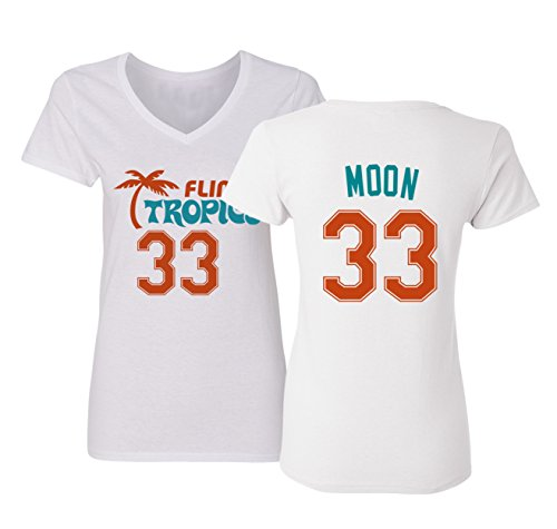 Costume Tropics Pro Semi Flint (Flint Tropics Jackie Moon 33 Semi Pro Basketball Women's V-Neck T Shirt)