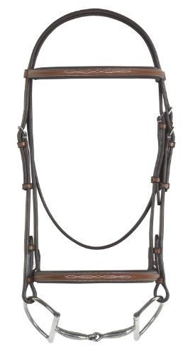 Bridle Padded Raised (Pessoa Fancy Raised Padded Bridle Full Brown)