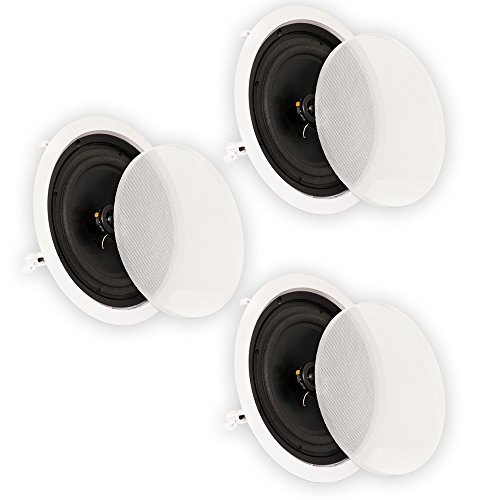 Theater Solutions CS8C In Ceiling 8'' Speakers Surround Sound Home Theater 3 Speaker Set CS8C-3S by Theater Solutions