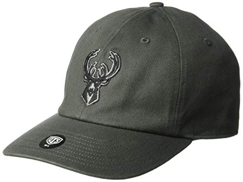 OTS NBA Adult Men's Comer Center Stretch Fit Hat Milwaukee Bucks, One Size, Charcoal]()