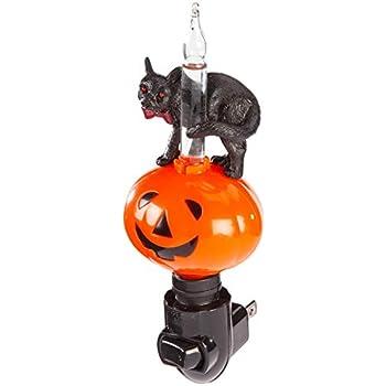 Amazon.com: Halloween luz nocturna – Truco o trato Cat: Home ...