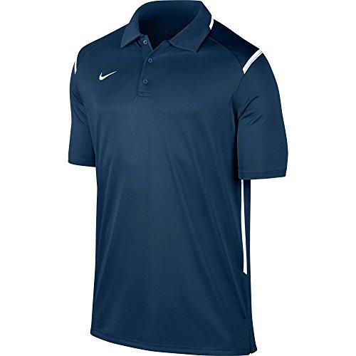 Mens Game Day Polo (New Nike Men's Team Gameday Polo Shirt TM Navy/TM White/TM White)