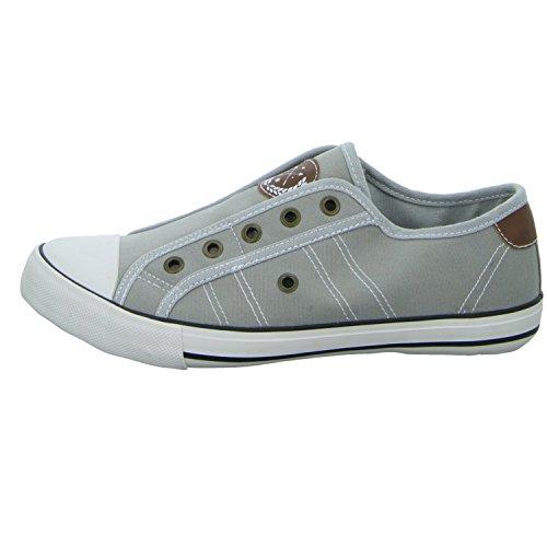 Sneakers 83574/221 Damen Leinen Slipper/Kletthalbschuh Grau (Grau)