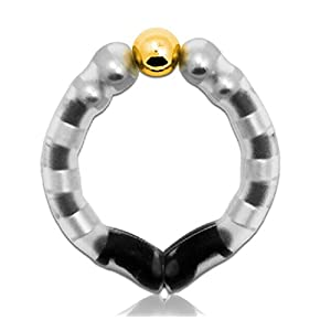 Male Magnet Therapy Ring Cock Ring Penis Ring for Erection Support J5539# (Gold)